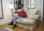 Cy Lee at his daughter's apartment in the East Village of New York in 2002. Photo by Lia Chang