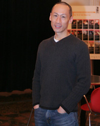 Francis Jue in the lobby of the Public Theater on January 4, 2008.