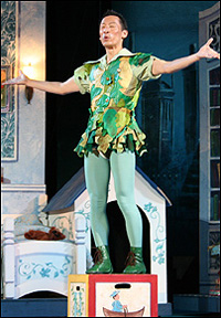 Francis Jue starred in the title role of the Muny's PETER PAN in 2007. Photo by Larry Pry/The Muny