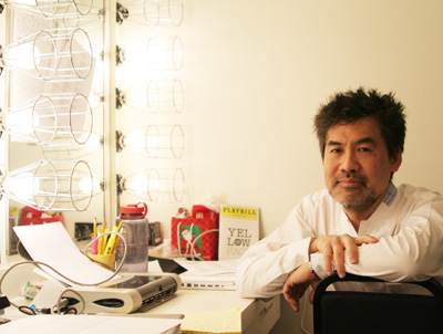 YELLOW FACE playwright David Henry Hwang at the Public Theater in New York on January 6, 2008. (Photo by Lia Chang)
