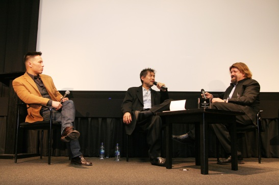 BD Wong, David Henry Hwang and Oskar Eustis Photo by Lia Chang