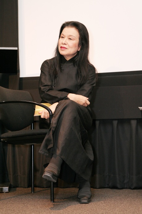 Eiko Ishioka at New York University's Iris and B. Gerald Cantor Film Center in New York, on December 8, 2008. Photo by Lia Chang