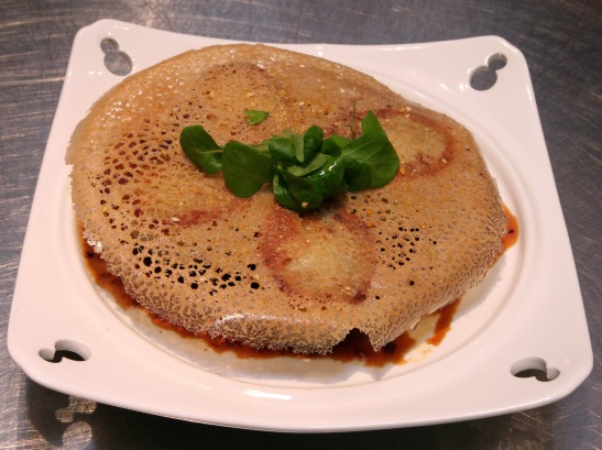 Steamed and Crusted Soft Potato Dim Sum Vegetable Dumplings served with swatow chili and soy juice (Photo by Lia Chang)