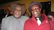 Negro Ensemble Company founder Douglas Turner Ward and Keith David (Photo by Lia Chang)