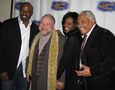 Evan Parke, director Stephen McKinley Henderson, Rosalyn Coleman and Ron Canada (Photo by Lia Chang)