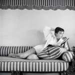 Audrey Hepburn at home. An out take from the photo shoot for the cover of the April 19,1954 international issue of Life magazine. Photo by Mark Shaw