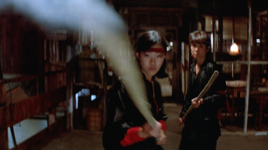 Lia Chang and Donna Noguchi in John Carpenter's Big Trouble in Little China (1986).