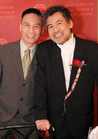 Actor BD Wong and playwright David Henry Hwang, an award-winning pair. (Photo by Lia Chang)