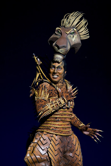 "Thom Sesma as ""Scar"" in THE LION KING Las Vegas.  ©2009, Disney.  Photo Credit:  Joan Marcus."