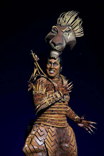 "Thom Sesma as ""Scar"" in THE LION KING Las Vegas.  ©2009, Disney.  Photo Credit:  Joan Marcus."