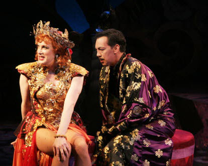 Charles Busch and Thom Sesma in Shanghai Moon at the Bay Street Theatre in Sag Harbor on June 7, 2008. Photo by Lia Chang