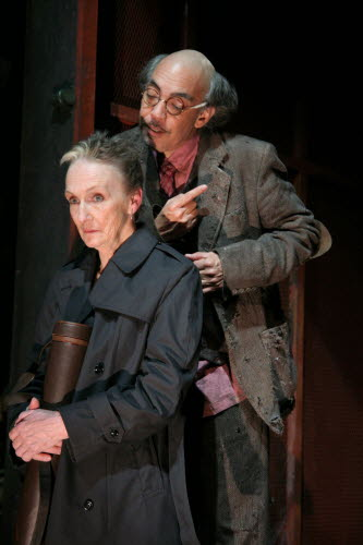 Kathleen Chalfant and Thom Sesma in The Epic Theatre's production of Howard Barker's A Hard Heart in New York, December 2007. Photo by Lia Chang