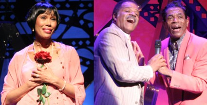 (l-r) Kim Brockington, Ted Lange and André De Shields in The Classical Theatre of Harlem's production of <em>Archbishop Supreme Tartuffe</em>. Photo by Lia Chang