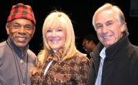 (l-r) Andre De Shields, Kathy and Jim Gurfein of the Gurfein Foundation, at the reading of Edward Pomerantz's A TUNE BEYOND US or WHAT A REVOLTIN' DEVELOPMENT THIS IS! on February 15, 2009 at the Theatre at St. Clement's in New York. Photo by Lia Chang