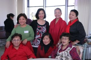 Family is everything to me and I got to go home a celebrate Chinese New Year with (l-r  front row) my grandmother, my Auntie Joyce, my Grand Auntie Minnie, (l-r back row) my Auntie Pauline, my sisters Tami and Marissa on February 9, 2008 in Oakland, Ca.
