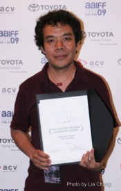 Tibet in Song director Ngawang Choephel (Best Emerging Director in Documentary Feature) Photo by Lia Chang