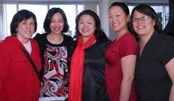 Cousins Darlene Lock, Lia Chang, Marissa Chang-Flores, Tami Chang and Kat Ng