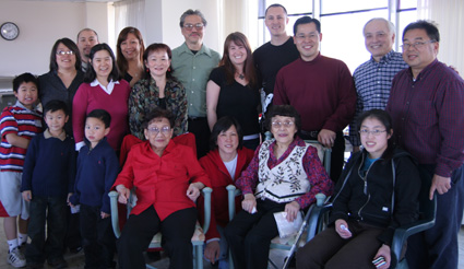 A Family Portrait at a Chinese New Year celebration in Oakland, CA on February 9, 2008. (Photo by Lia Chang)