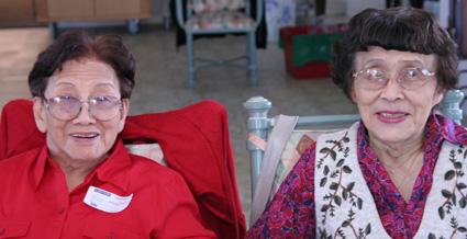 Sisters Nancy Chang (my grandmother) and Minerva Wong (Photo by Lia Chang)