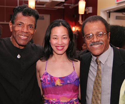 André De Shields, Lia Chang and Ted Lange at the opening night party for the Classical Theatre of Harlem's Archbishop Supreme Tartuffe at The Clurman on June 25, 2009 in New York.