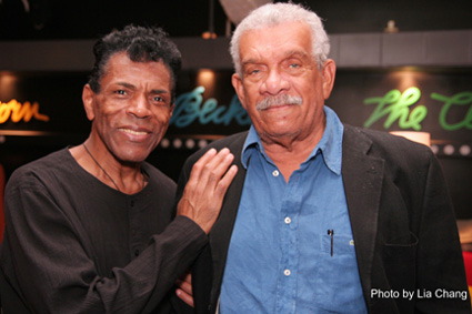 André De Shields and Nobel Laureate playwright Derek Walcott. De Shields starred in the Classical Theatre of Harlem's production of Walcott's Dream on Monkey Mountain. (Photo by Lia Chang)