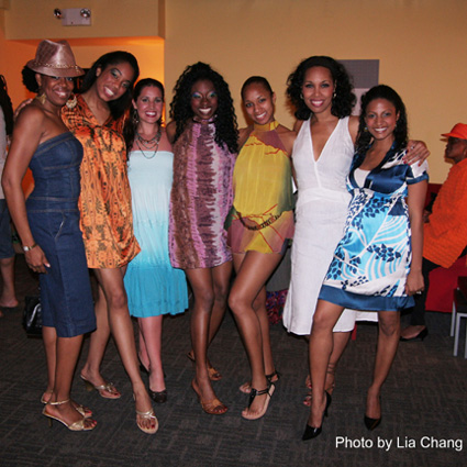 The lovely ladies of Archbishop Supreme Tartuffe: choreographer Tracy Jack and castmembers Kisa Willis, Gina Rivera, Jennifer Akabue, Charletta Rozzell, Kim Brockington and Soneela Nankani. Photo by Lia Chang