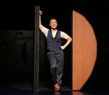 BD Wong stars in the La Jolla Playhouse Production of Herringbone through 8/30. Photo by Lia Chang