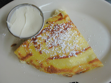 Raspberry Blintz at Veselka (c) Lia Chang