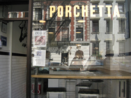 Porchetta  at 110 E. 7th St in the East Village of New York. © Lia Chang