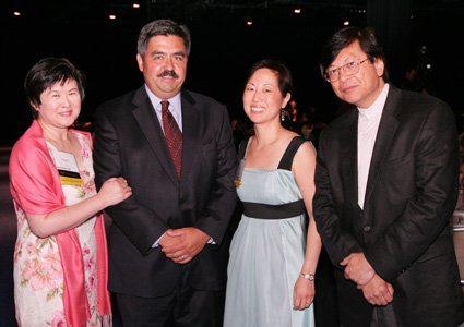 AAJA Special Award recipients Dinah Eng, Steve Paulus, Jeannie Park and Corky Lee © Lia Chang