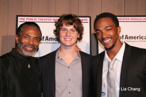 André De Shields, Jonathan Groff and Anthony Mackie. © Lia Chang