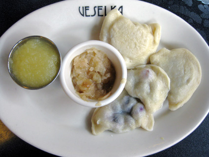 Pierogis at Veselka (c) Lia Chang