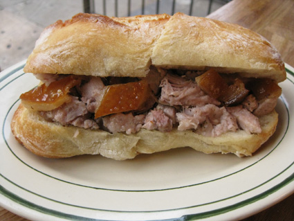 Porchetta sandwich $9 © Lia Chang