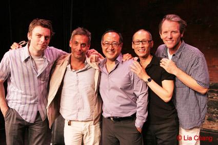 Justin Kirk, Joe Mantello, Alan Muraoka, Francis Jue and Stephen Bogardus © Lia Chang