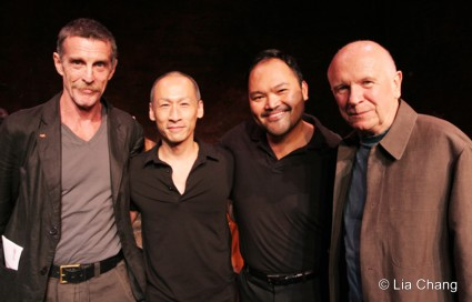 John Glover, Francis Jue, Orville Mendoza and playwright Terrence McNally © Lia Chang