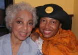Miss Ruby Dee, actress and playwright and Elizabeth Van Dyke, producer and co-founder of Going to the River Photo by Lia Chang