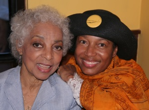 Miss Ruby Dee, actress and playwright and Elizabeth Van Dyke, producing artistic director and co-founder of Going to the River © Lia Chang