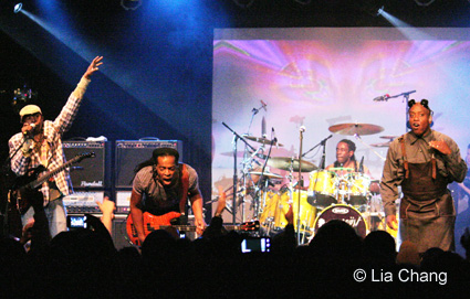Vernon Reid, Doug Wimbish, Will Calhoun and Corey Glover of Living Colour in concert at the Highline Ballroom on October 30, 2009 in New York. © Lia Chang