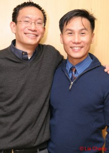 Lyricist Robert Lee and BD Wong (c) Lia Chang