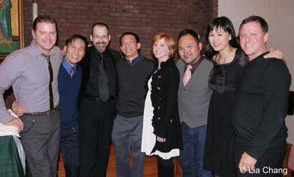 (L-R) Clarke Thorell, BD Wong, Wayne Barker, Robert Lee, Anastasia Barzee, Orville Mendoza, Cindy Cheung and Dave Phillips © Lia Chang