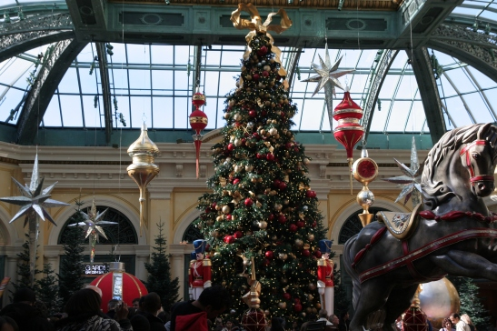 Bellagio Christmas Holiday Display in the Conservatory and Botanical Garden on view through January 2, 2010. Photo by Asia Flores