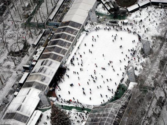 Bryant Park Skating Rink © Lia Chang