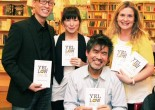 Francis Jue, Julienne Hanzelka Kim, Playwright David Henry Hwang at The Drama Book Shop book signing for Yellow Face on December 10, 2009. © Lia Chang