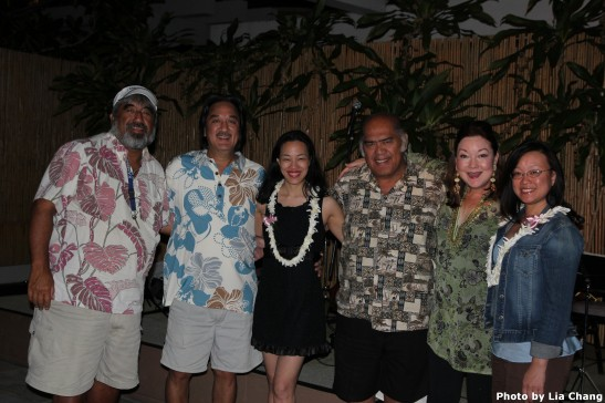Aaron Mahi, George Kuo, Lia Chang, Martin Pahinui, Cathy Foy and Tami Chang at the Waikiki Beach Marriott on May 16, 2010.