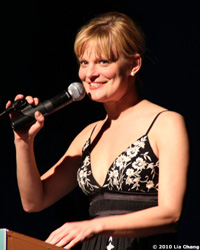 Martha Plimpton emceed The 52nd Street Project's Spring Sing Thing Benefit at Espace in New York on Monday, May 10, 2010. © Lia Chang