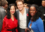 Lia Chang, Matthew Morrison and designer Selena Evans Photo by Robert Evans