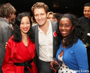 Lia Chang, Matthew Morrison and designer Selena Evans Photo by Robert Evans