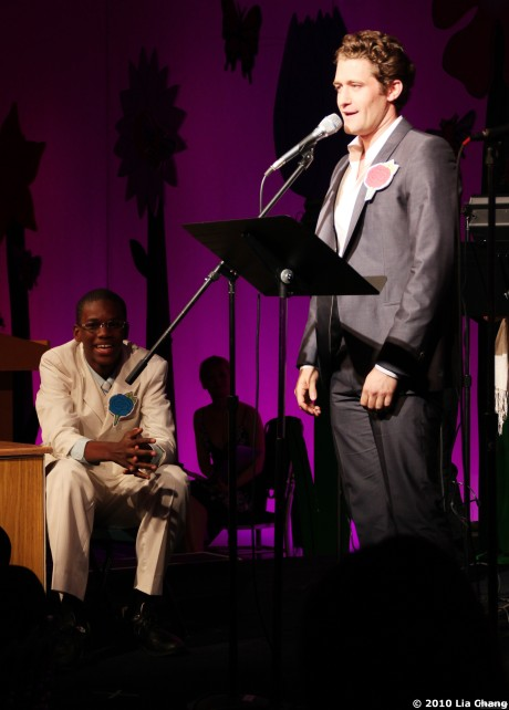 Lyricist Wendell Joseph, age 13 and Glee's Matthew Morrison © Lia Chang