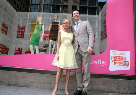 Promises, Promises stars' Kristin Chenoweth and Sean Hayes at the Lord & Taylor Fifth Ave Flagship Store on Friday, May 14, 2010 in New York. Photo by Lia Chang/Lord & Taylor