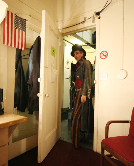 Thom Sesma, who starred as Captain Ahrab in the Twyla Tharp/Dylan Project The Times Are A Changin, backstage at the Brooks Atkinson Theatre in New York on November 15, 2006. Photo by Lia Chang